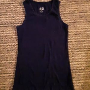 Justice girls 16 navy blue tank top
